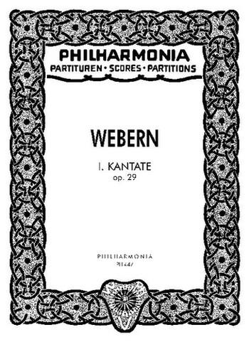 Kantate Nr.1 opus.29: für Sopran, Chor und Orchester