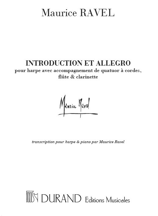 Introduction et allegro: pour harpe et piano