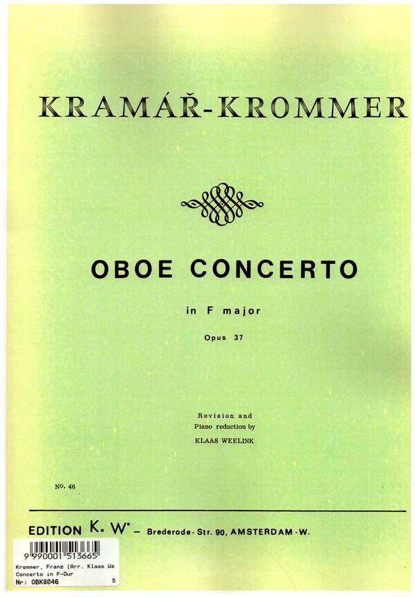 Krommer, Franz Vinzenz - Concerto F major op.37 for oboe and