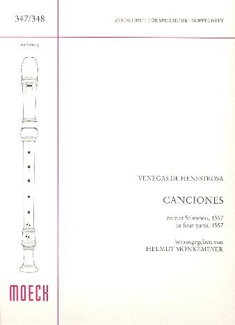 4 Canciones zu 4 Stimmen: für 4 Blockflöten (SSAB)
