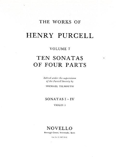 10 Sonatas of 4 Parts: for 2 violins, bass and Bc