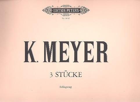 Drei Stücke: für Schlagzeug, op 40, 1976