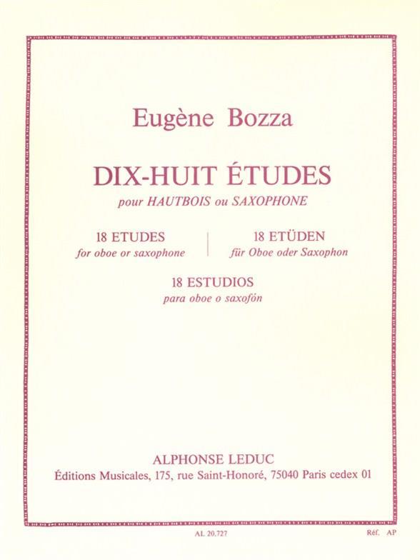 Bozza, Eugène - 18 études :