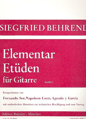 Elementar-Etüden Band 1: für Gitarre