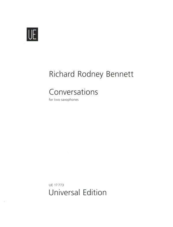Bennett, Richard Rodney - Zwiegespräche : für 2 Saxophone