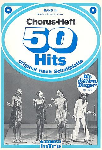 Chorus-Heft Band 3: 50 Hits original nach Schallplatte: