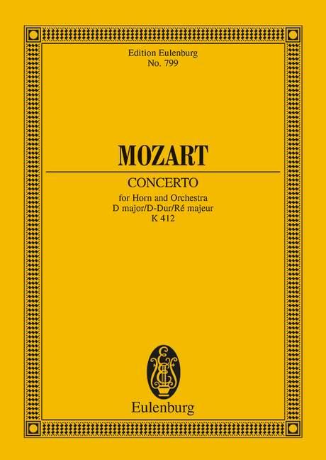 Konzert D-Dur KV412: für Horn und Orchester