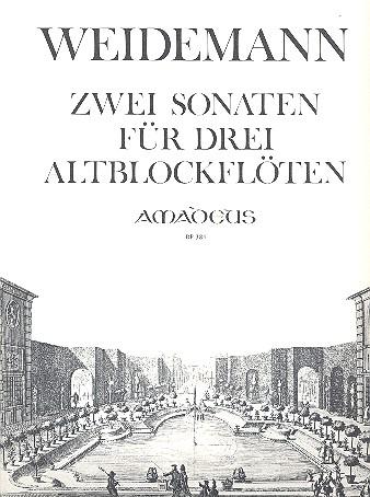 2 Sonaten F-Dur op.3,3 und op.3,6: für 3 Altblockflöten