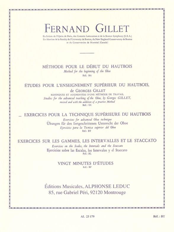 Gillet, Fernand - Exercices pour la technique supérieure