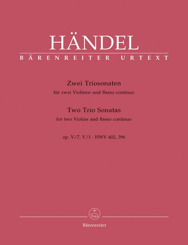 Triosonate B-Dur op.5,7 HWV402 und Triosonate A-Dur op.5,1 HWV396: