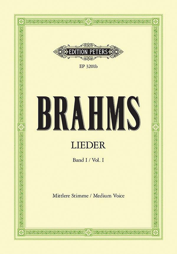 Brahms, Johannes - Lieder Band 1 : für mittlere
