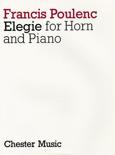 Poulenc, Francis - Elegy : for horn and piano