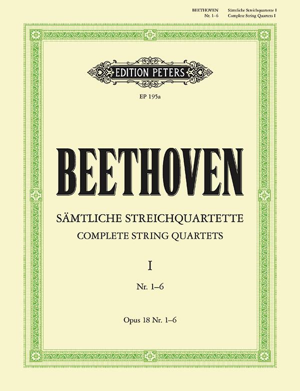 Beethoven, Ludwig van - Streichquartette op.18,1-6