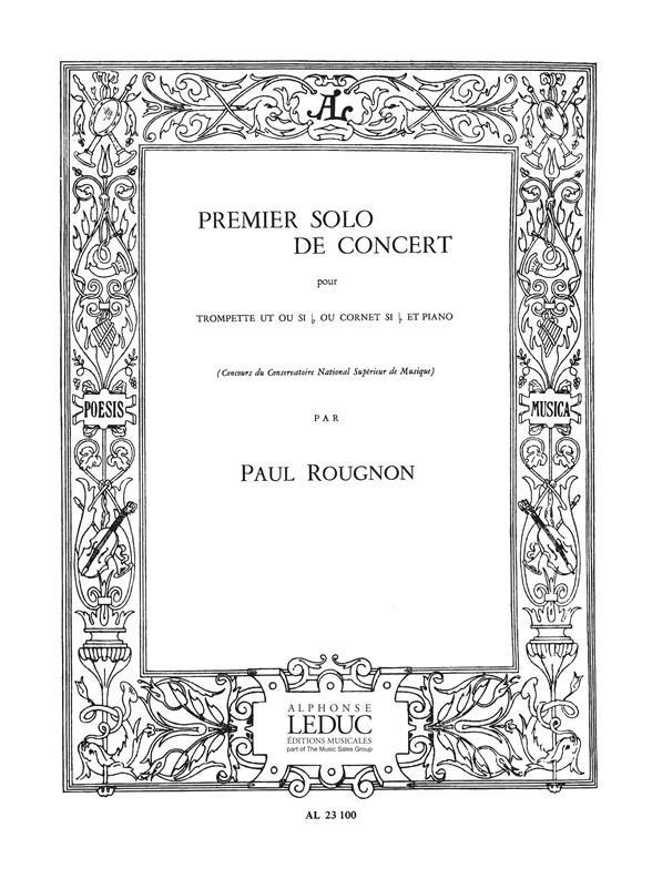 Rougnon, Paul - Premier solo de concert : pour
