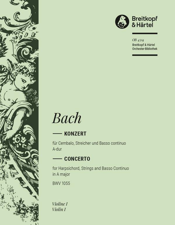 Konzert A-Dur BWV1055: für Klavier und Orchester