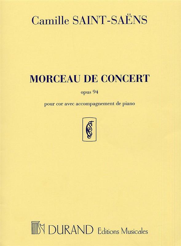 Morceau de concert opus.94: pour cor en fa et piano