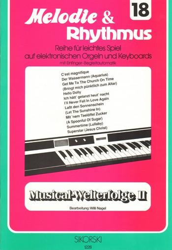 Musical-Welterfolge 2: für E-Orgel (Keyboard)