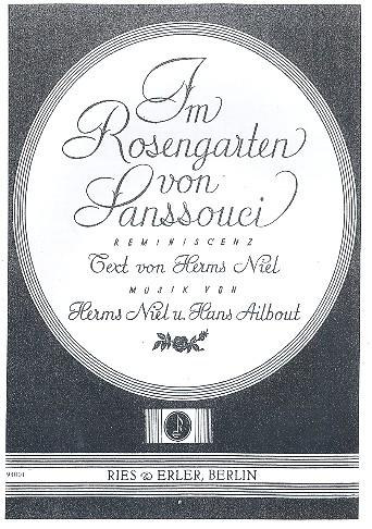 Iim Rosengarten von Sanssouci: Tango für Klavier