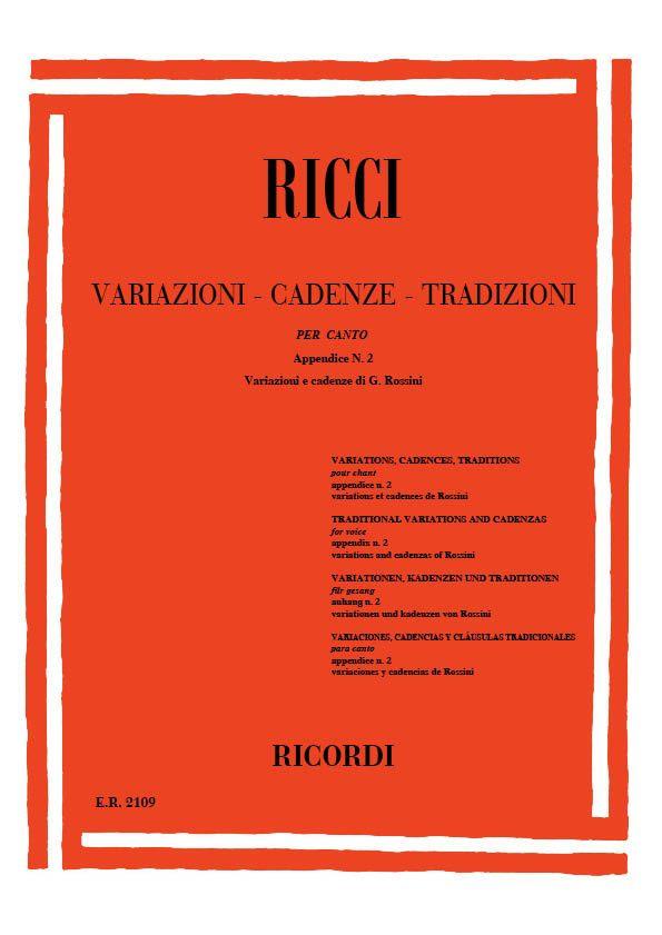 Variazioni, cadenze, tradizioni appendice vol.2: Variazioni e cadenze di Gioacchino
