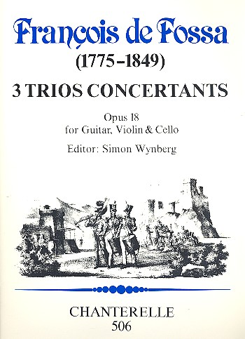 3 Trios concertants opus.18: for guitar, violin and cello