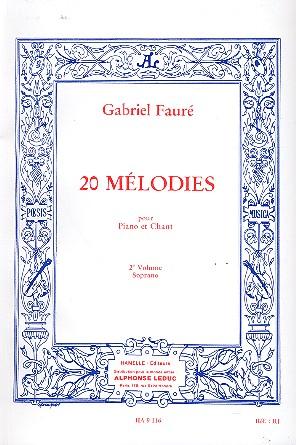 Fauré, Gabriel Urbain - 20 mélodies vol.2 : pour