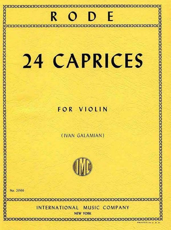 Rode, Jacques Pierre Joseph - 24 Caprices : for violin