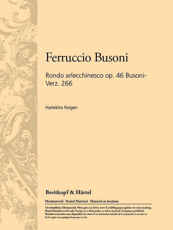 HARLEKINS REIGEN opus.46: FUER TENOR UND ORCHESTER STUDIENPARTITUR
