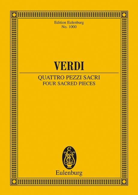 4 pezzi sacri: für Chor und Orchester