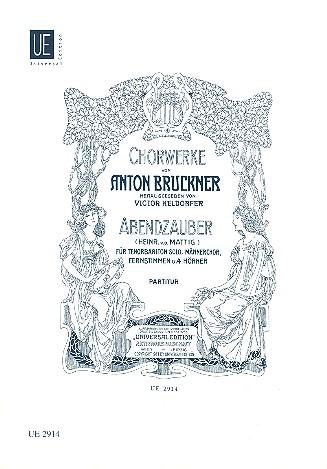 Abendzauber: für Soli, Männerchor, Frauenchor und 4 Hörner