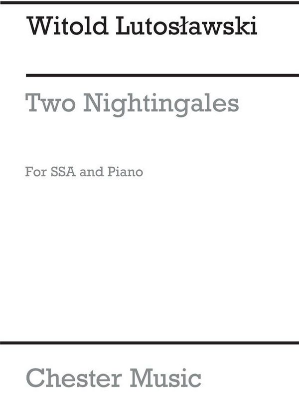 2 Nightingales: for ssa choir and piano