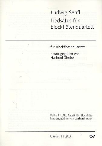 12 vierstimmige Liedsätze: für 4 Blockflöten (SATB)