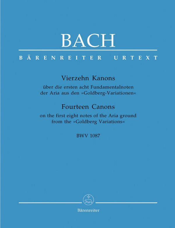 14 Kanons BWV1087: für 2 Violinen und Cembalo