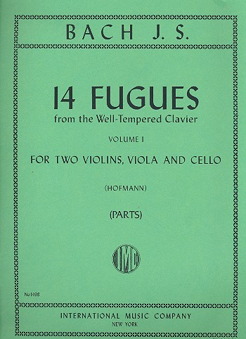 14 Fugues vol.1 (from the well-tempered Clavier: for string