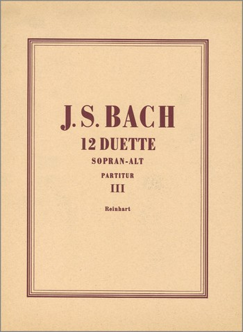 12 Duette aus Kantaten Band 3 (Nr.7-9): für Frauenchor und Orgel
