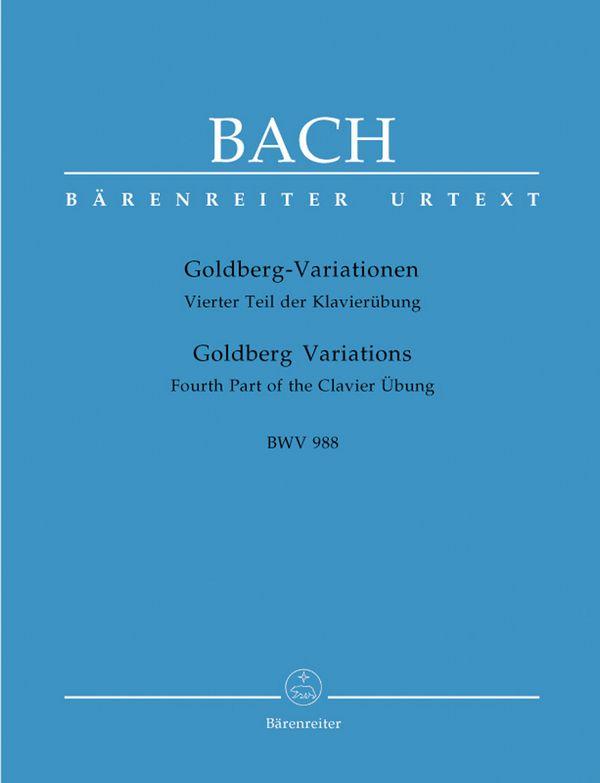Bach, Johann Sebastian - Goldberg-Variationen BWV988 : für Cembalo