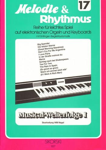 Musical-Welterfolge Band 1: für E-Orgel / Keyboard