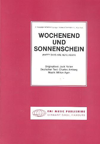 Wochenend und Sonnenschein: Einzelausgabe Gesang und Klavier