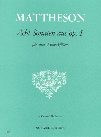 8 Sonaten aus op.1: für 3 Blockflöten (AAA)