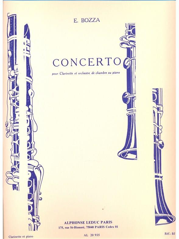 Concerto pour clarinette et ochestre: pour clarinette et piano