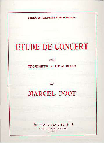 Étude de Concert: pour trompette et piano