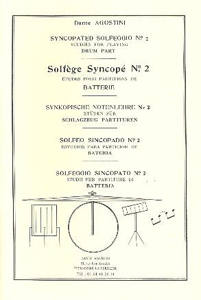 Solfege syncope vol.2: pour percussion
