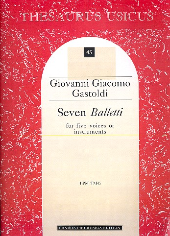 7 balletti 1596: for 5 voices or instruments score (it)