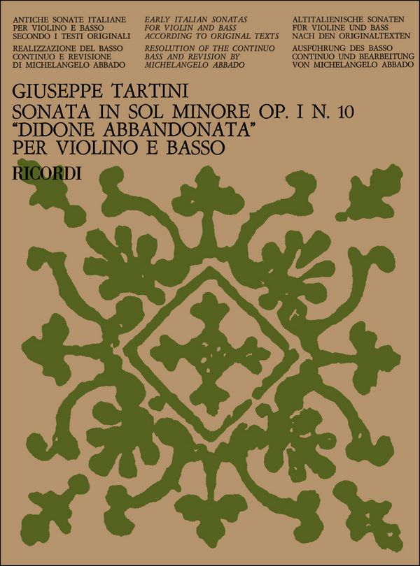 Tartini, Giuseppe - Sonata sol minore op.1,10 :