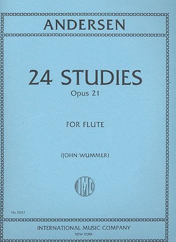 Andersen, Carl Joachim - 24 Studies op.21 : for flute solo