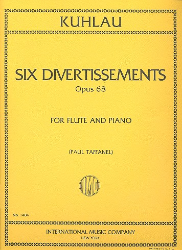 Kuhlau, Friedrich Daniel Rudolph - 6 divertissements op.68 : for flute
