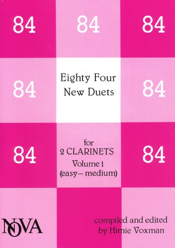 - 84 new duets vol.1 : for 2 clarinets