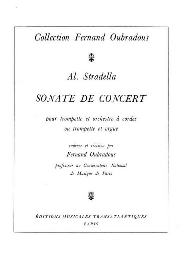 sonate de concert pour trompette et orchestre a cordes ou orgue: