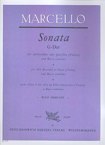 Marcello, Benedetto - Sonate G-Dur : für Altblockflöte
