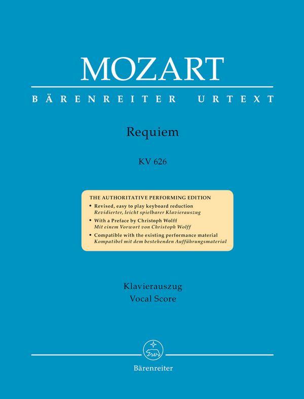 Requiem KV626: für Soli, gem Chor und Orchester