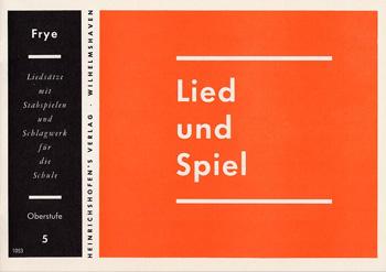 LIED UND SPIEL: HEFT 5, MITTELSTU- FE, FUER STABSPIELE UND SCHLAGWERK